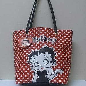 Betty Boop Red/White Poco For Tote Bag